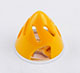 Click for the details of Φ82mm Aluminum + ABS  Hollow-carved Spinner for 2-blade Prop - Yellow.