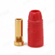 Click for the details of AMASS AS150 7mm Anti-spark Gold-plated Banana Connector (bullet connector) - Male, Red.