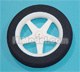 Click for the details of D63.5×Φ1.8×H10mm Sponge Wheel (Star shape spoke) HY006-02903.