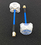 Click for the details of AOMWAY 5.8G Circular Polarized Antenna Pair - SMA, plug, Blue.