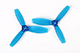 Click for the details of DYS 3x4.5 3045 Tri-blade Bullnose Propeller Set (1CW/ 1CCW) - Blue.