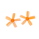 Click for the details of DYS  1935 5-blade Propeller Set (1CW/ 1CCW) - Orange.