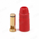 Click for the details of AMASS AS150 7mm Anti-spark Gold-plated Banana Connector (bullet connector) W/ resistor- Male, Red.